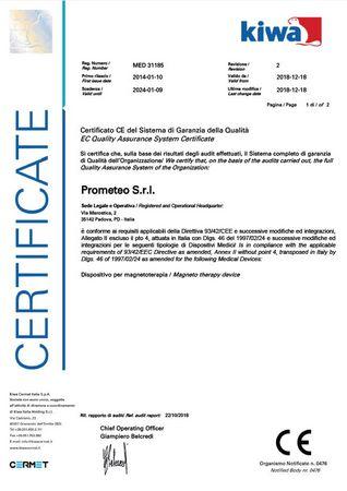 certificazioni Prometeo srl